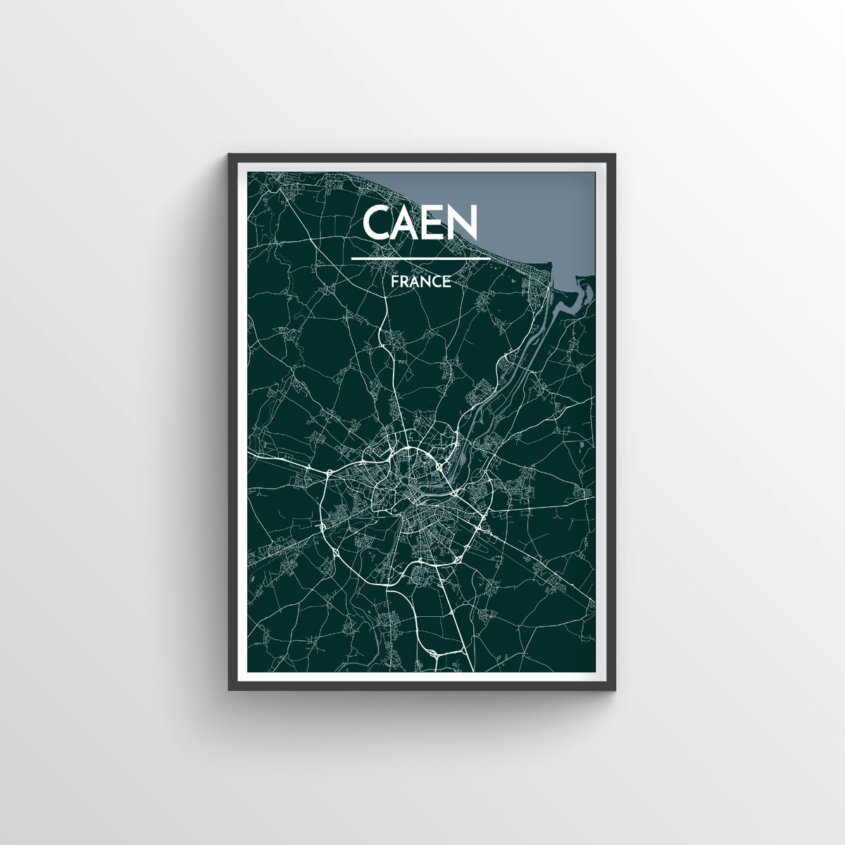 Caen Map Art Print - Point Two Design
