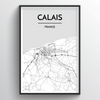 Calais Map Art Print - Point Two Design