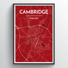 Cambridge Map Art Print - Point Two Design