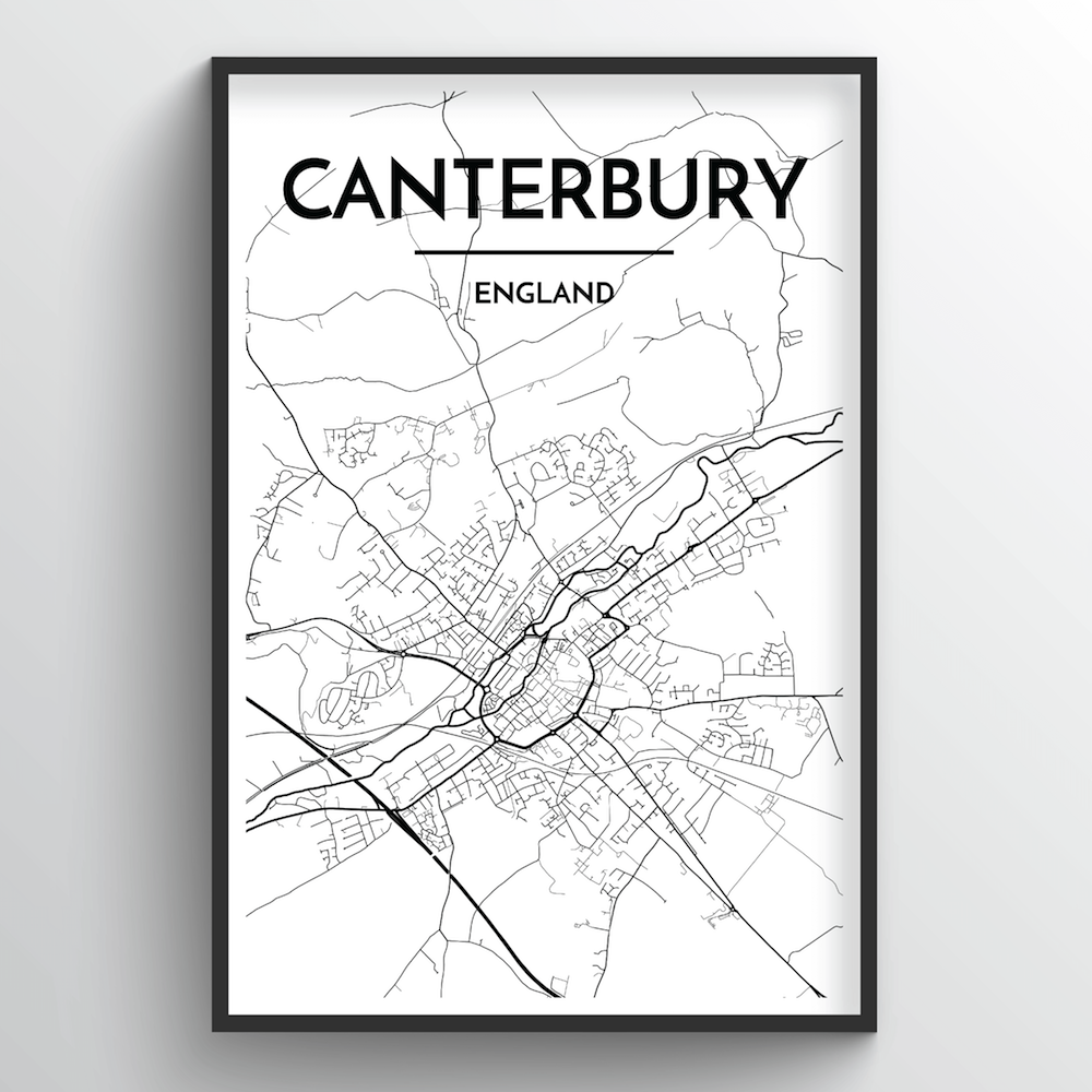 Canterbury Map Art Print - Point Two Design