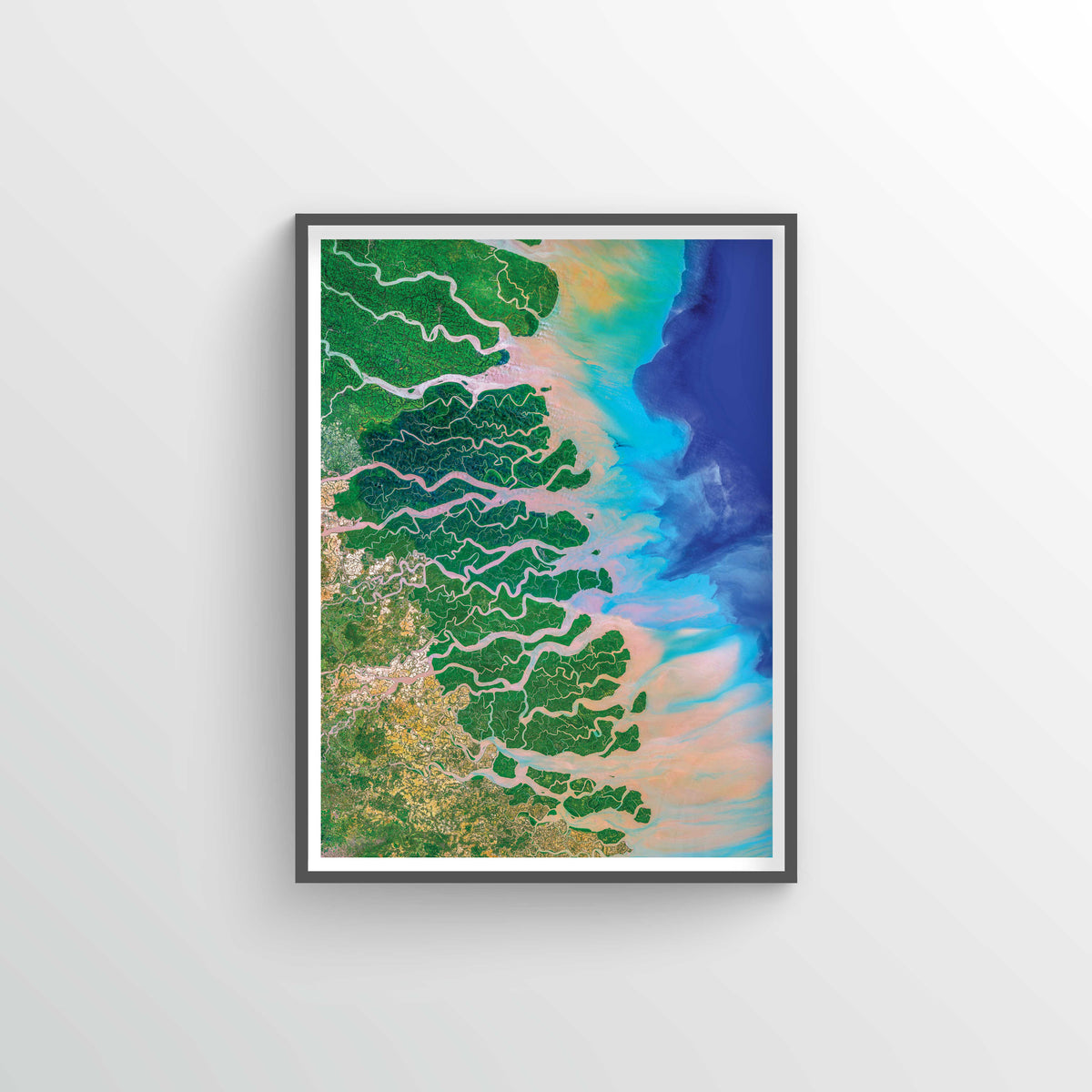 Ganges-Brahmaputra Delta Earth Photography - Art Print - Point Two Design