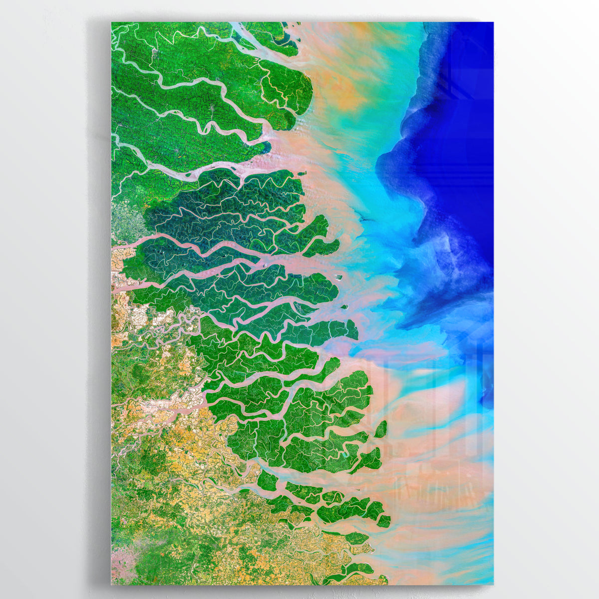 Ganges-Brahmaputra Delta Earth Photography - Acrylic - Point Two Design