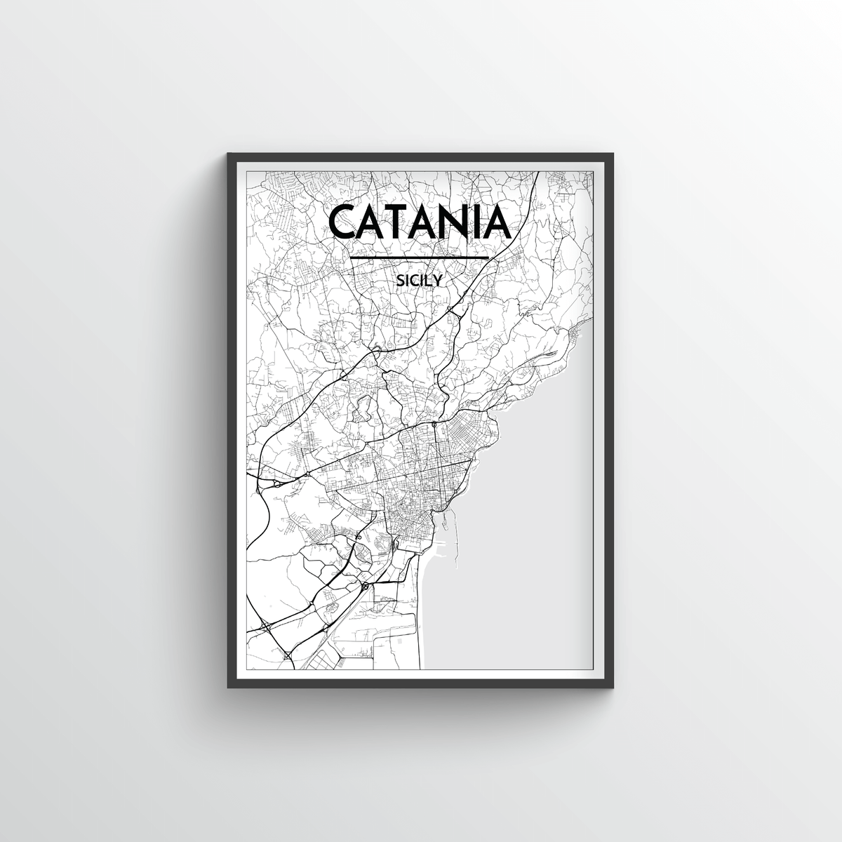 Catania Map Art Print - Point Two Design