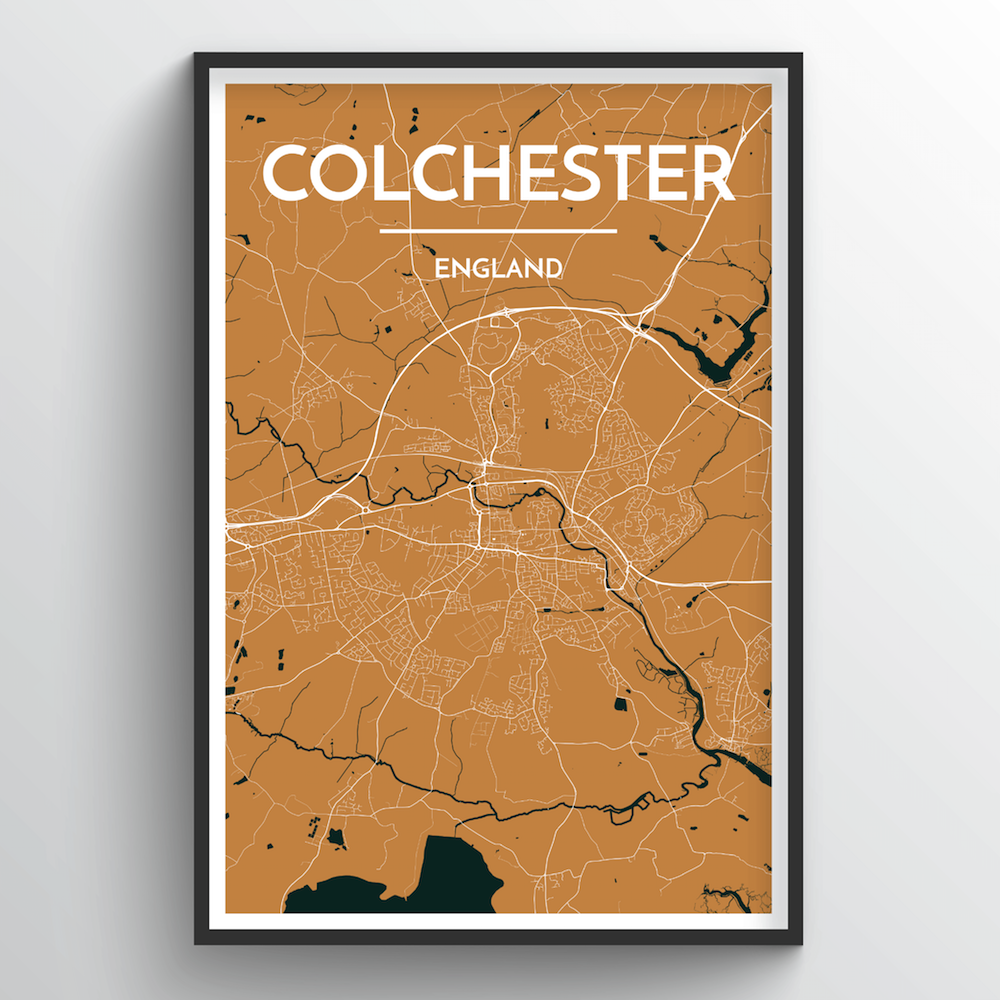 Colchester Map Art Print - Point Two Design