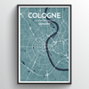 Cologne Map Art Print - Point Two Design