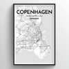 Copenhagen Map Art Print - Point Two Design