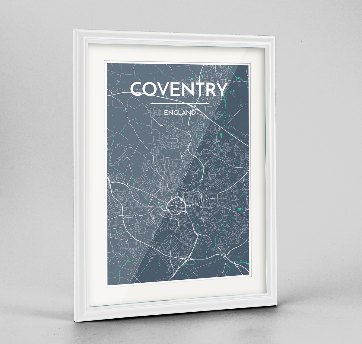 Framed Coventry Map Art Print