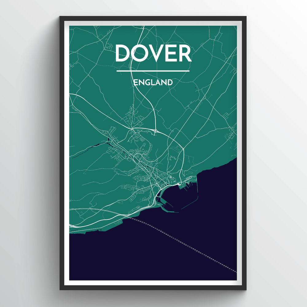 Dover Map Art Print - Point Two Design