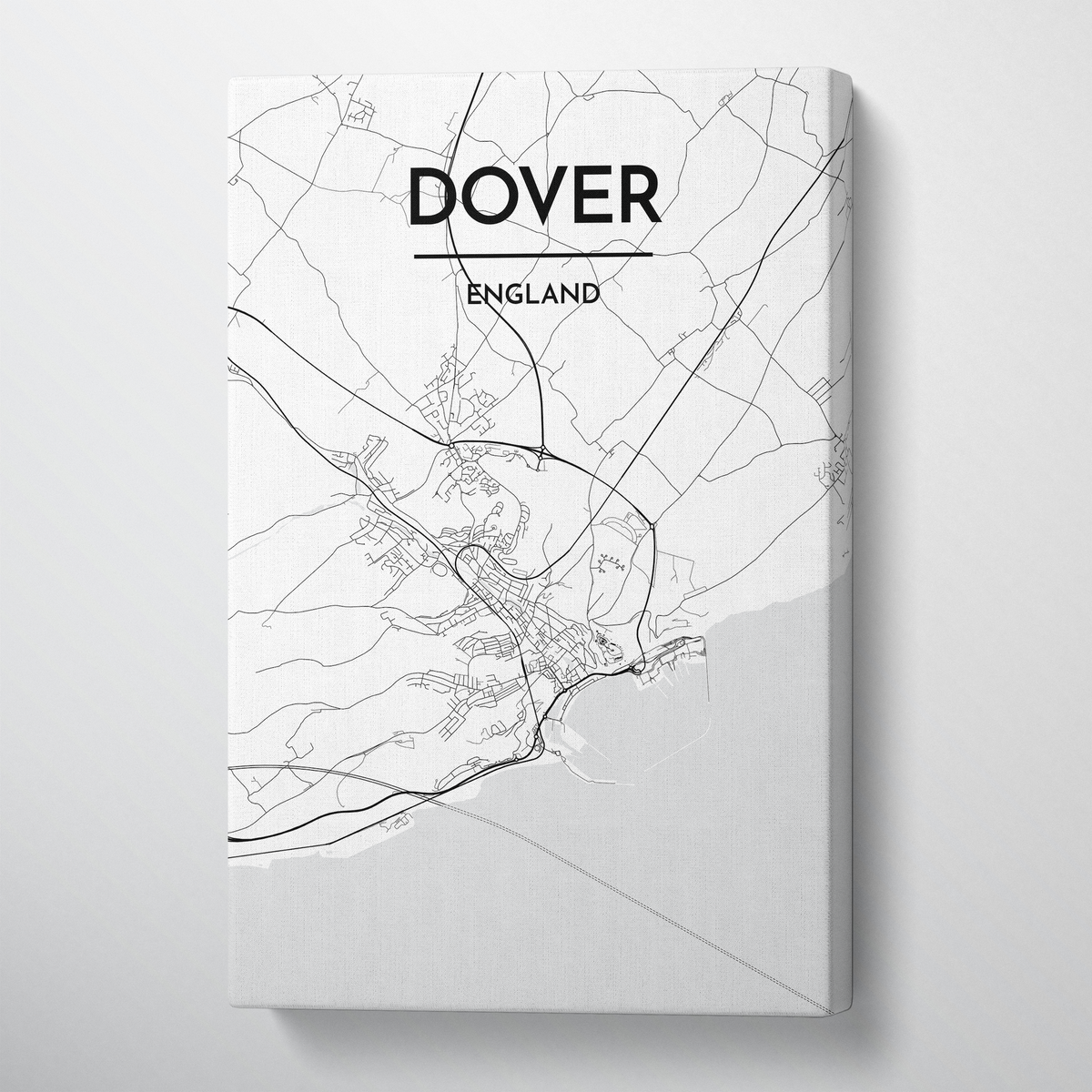 Dover Map Canvas Wrap - Point Two Design