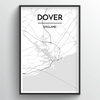 Dover City Map Art Print - Point Two Design