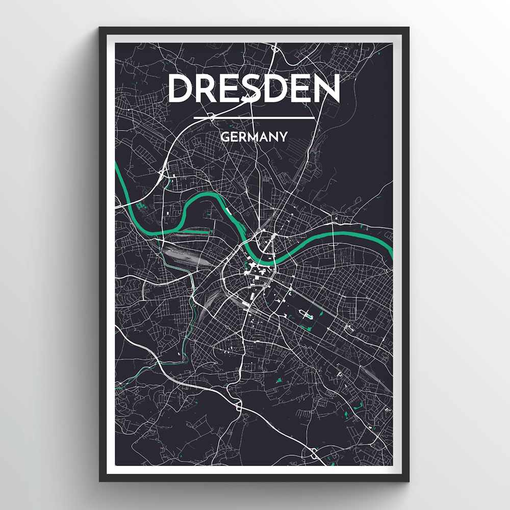 Dresden Map Art Print - Point Two Design