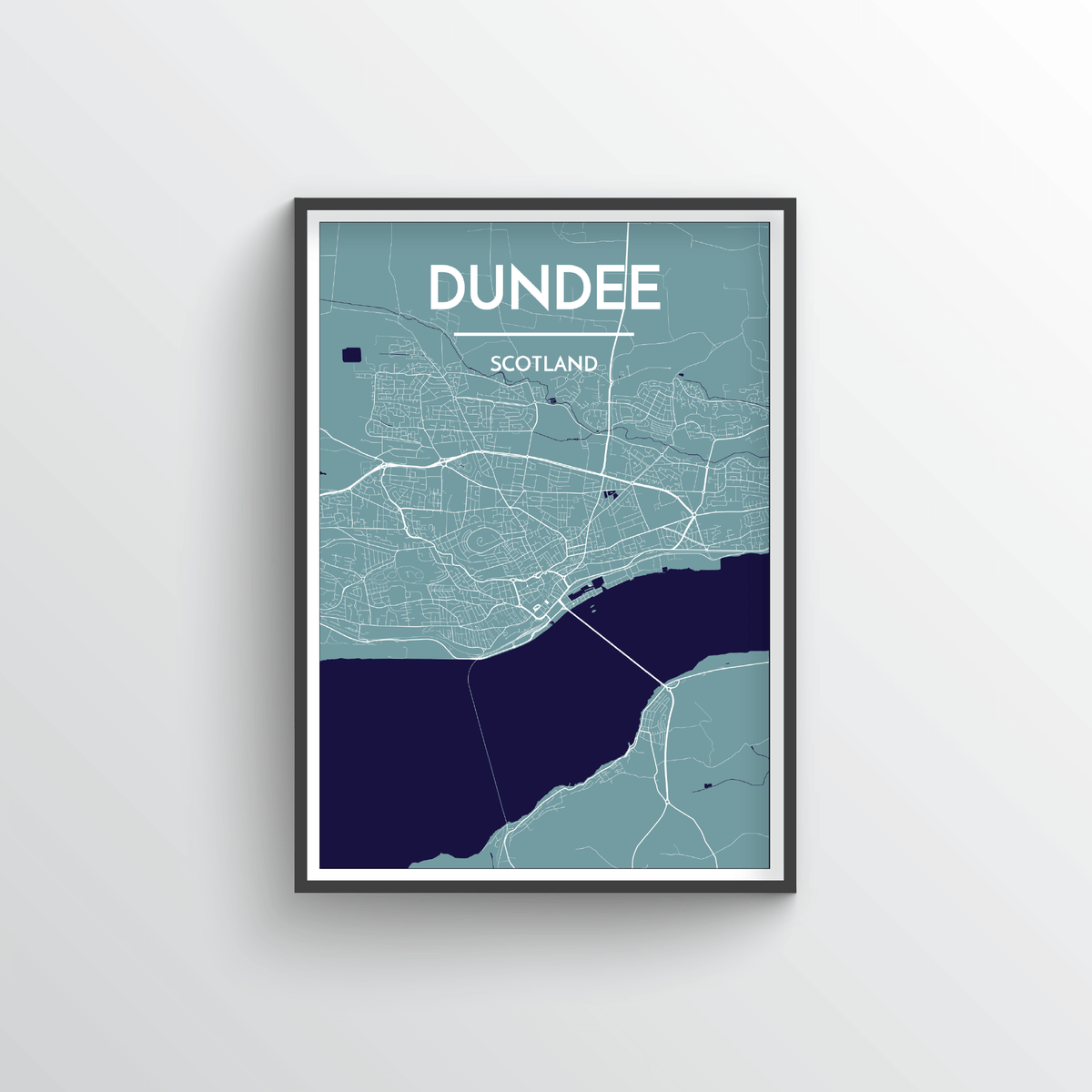Dundee Map Art Print - Point Two Design