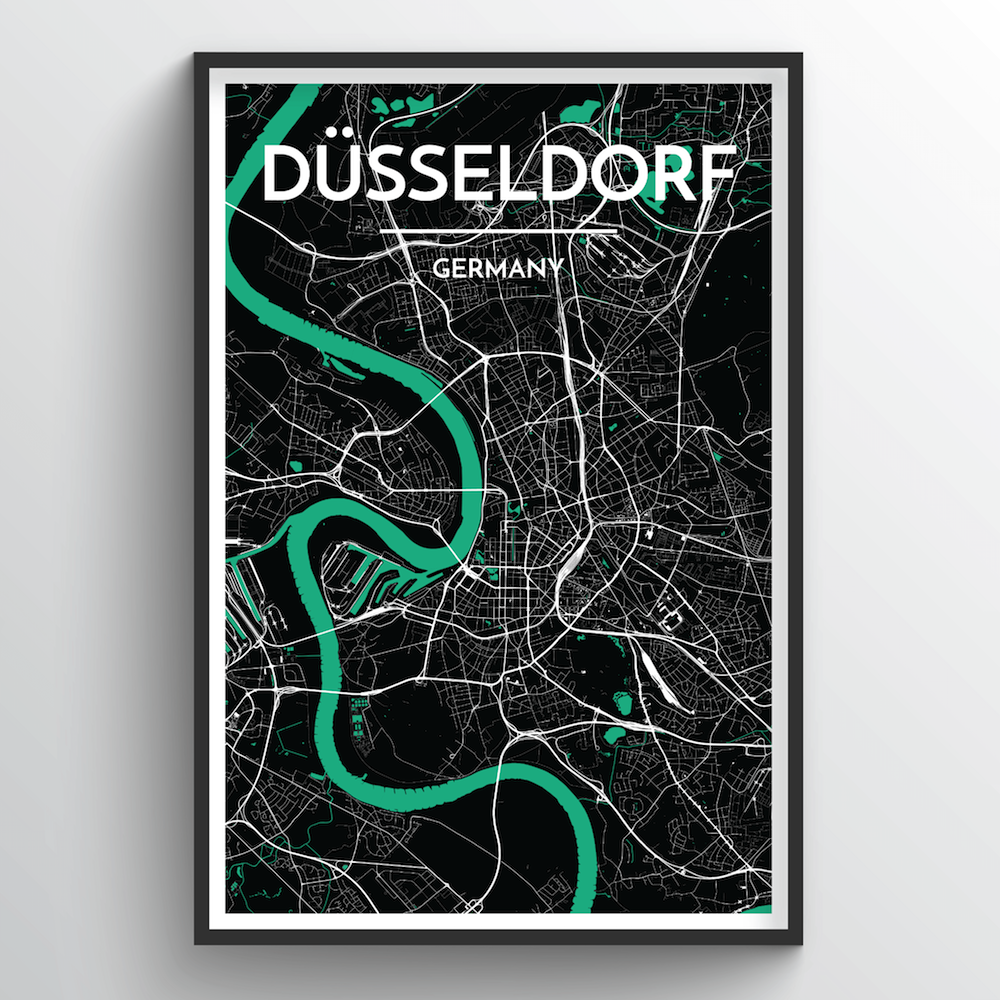 Dusseldorf Map Art Print - Point Two Design