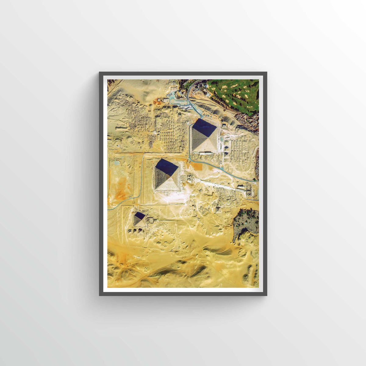 Giza Pyramids Earth Photography - Art Print