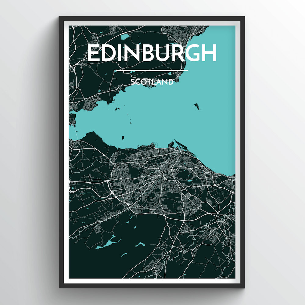 Edinburgh Map Art Print - Point Two Design