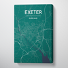Exeter Map Canvas Wrap - Point Two Design