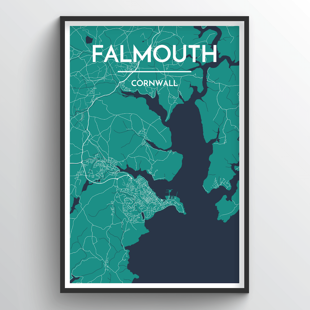 Falmouth Map Art Print - Point Two Design