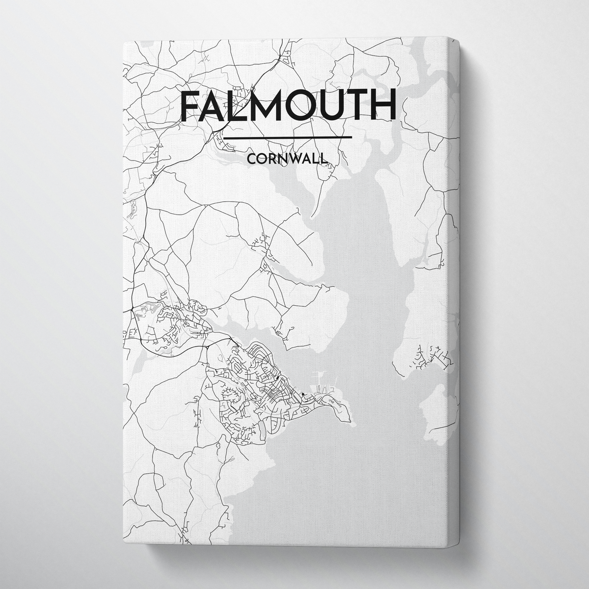 Falmouth Map Canvas Wrap - Point Two Design