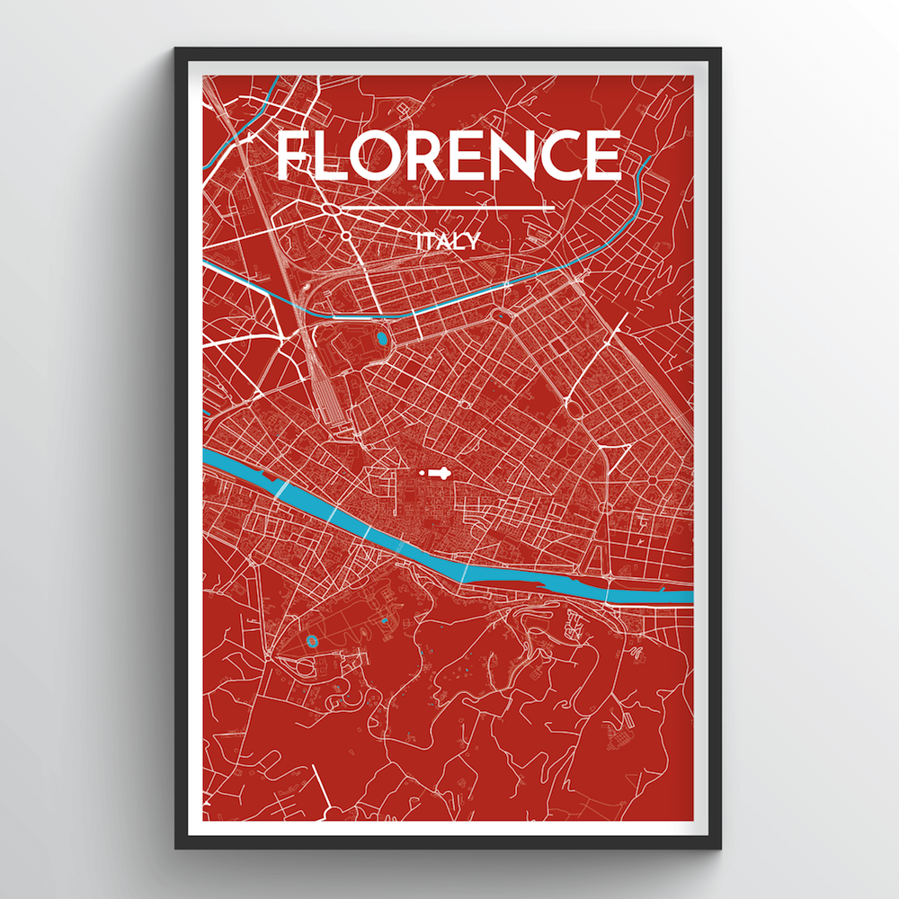 Florence Map Art Print - Point Two Design
