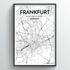 Frankfurt Map Art Print - Point Two Design