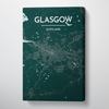 Glasgow City Map Canvas Wrap - Point Two Design