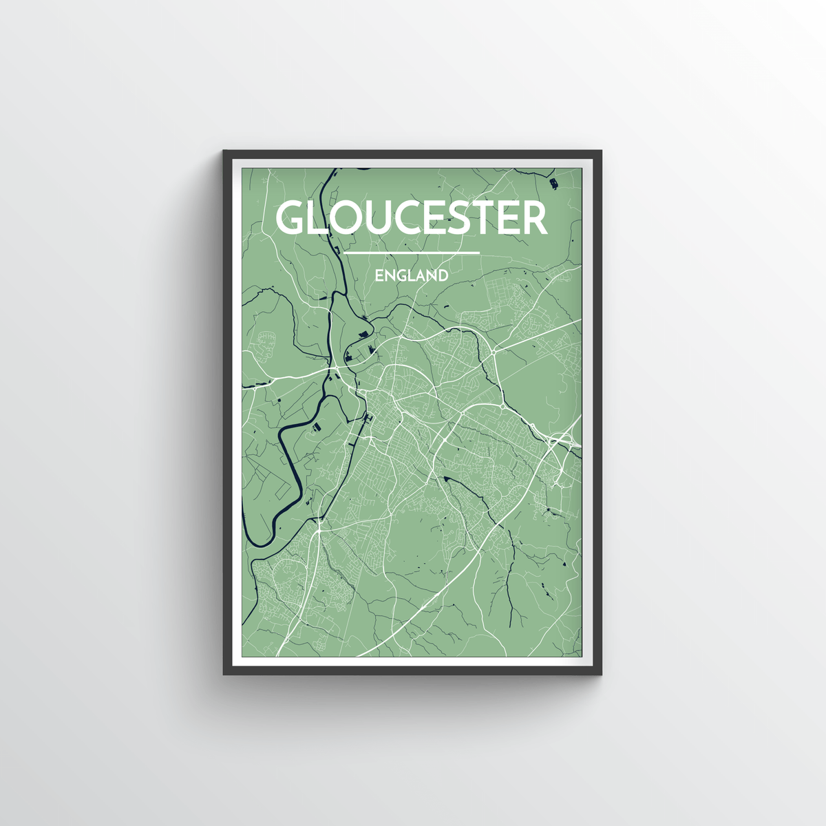 Glouchester Map Art Print - Point Two Design
