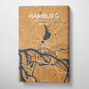 Hamburg City Map Canvas Wrap - Point Two Design