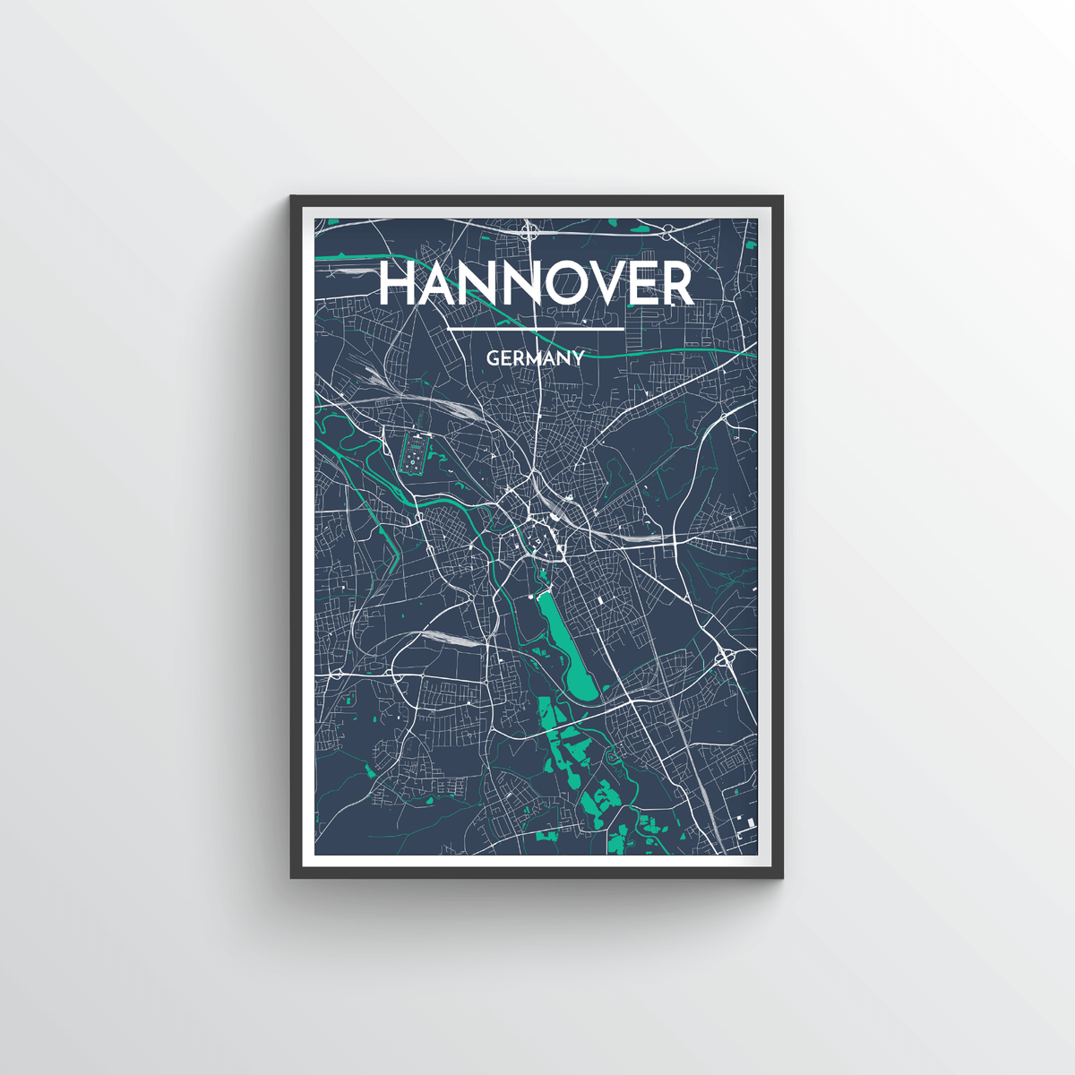 Hannover Map Art Print - Point Two Design