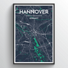 Hannover City Map Art Print - Point Two Design