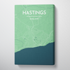 Hastings City Map Canvas Wrap - Point Two Design