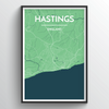 Hastings City Map Art Print - Point Two Design