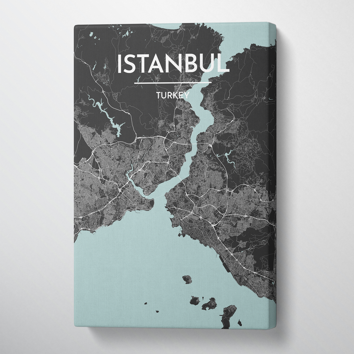 Istanbul City Map Canvas Wrap - Point Two Design