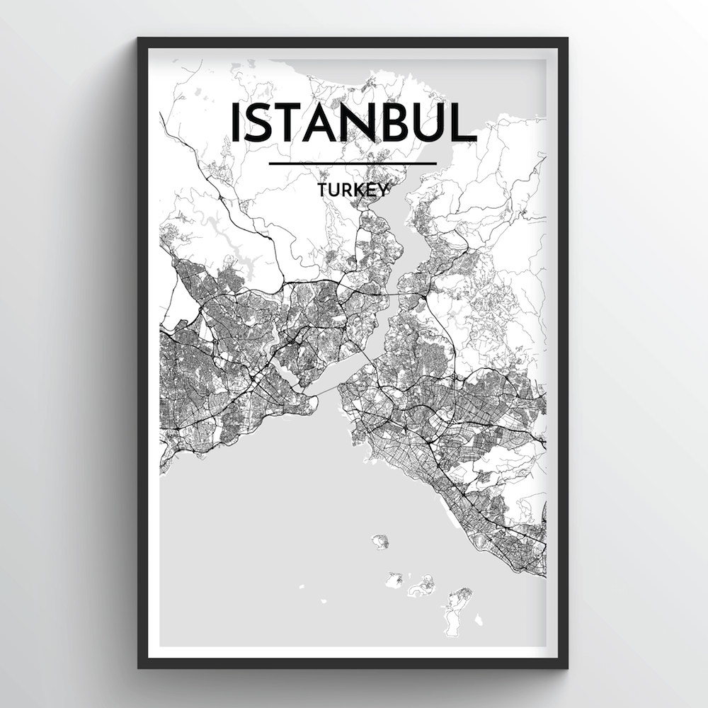 Istanbul Map Art Print - Point Two Design