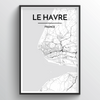 Le Havre City Map Art Print - Point Two Design