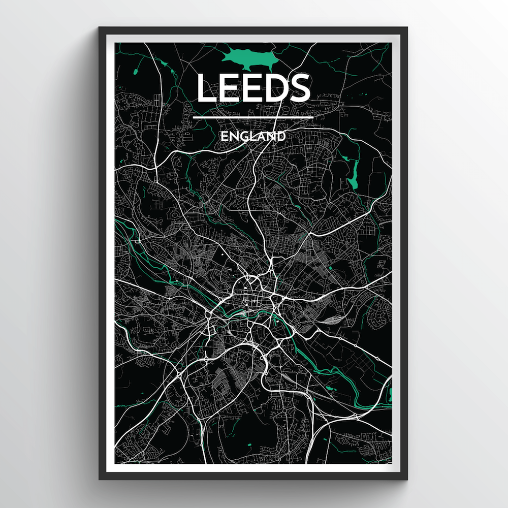 Leeds Map Art Print - Point Two Design