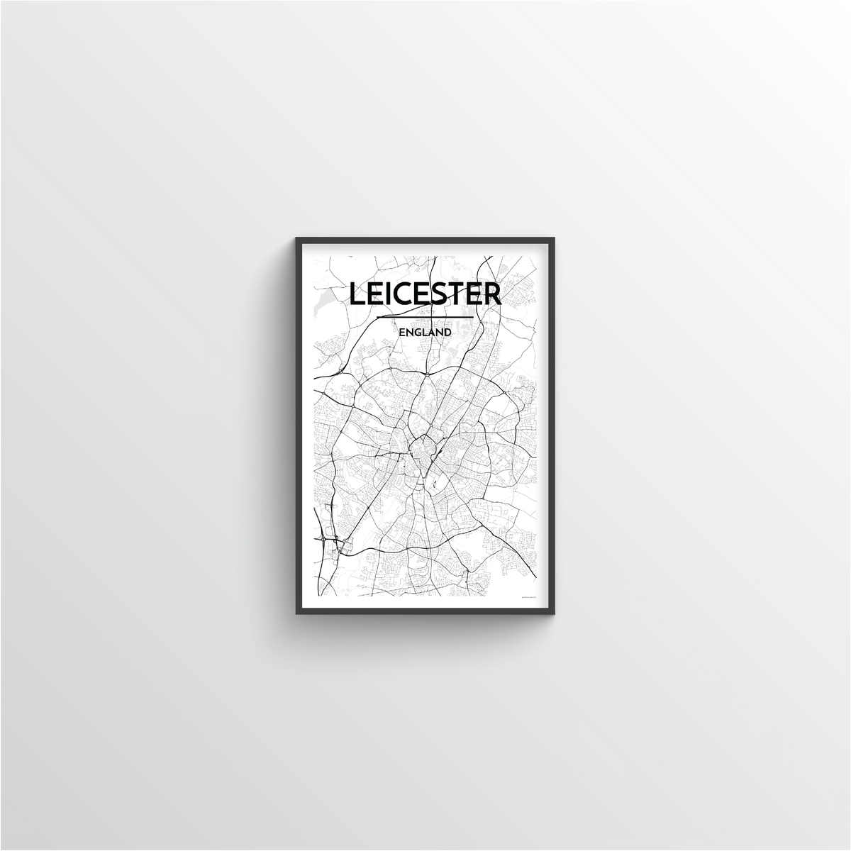 Leicester Map Art Print