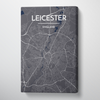 Leicester City Map Canvas Wrap - Point Two Design