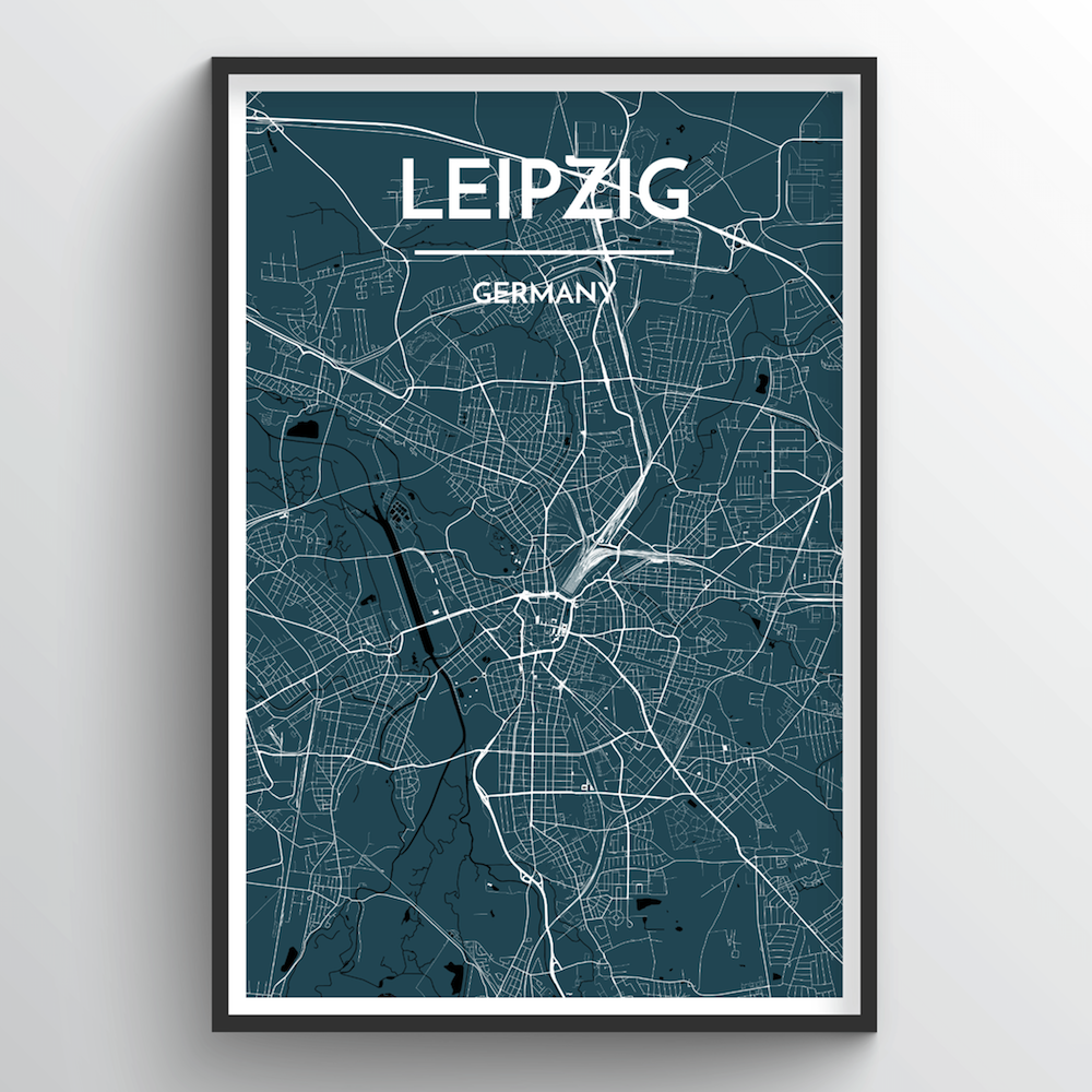 Leipzig City Map Art Print - Point Two Design