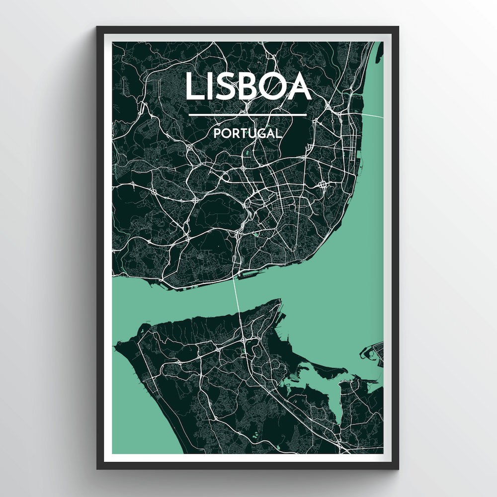 Lisboa City Map Art Prints - High Quality Custom Made Art ... on canada city names, map of road names, us map city names, map of chile city names,