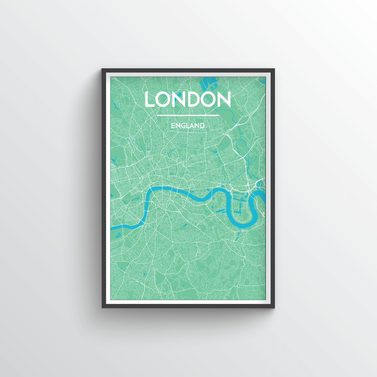 London City Map Art Print - Point Two Design - Black & White Print
