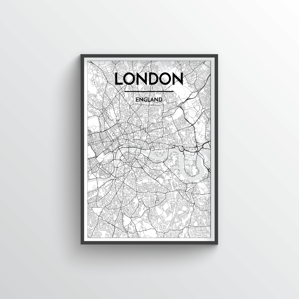 London City Map Art Print - Point Two Design