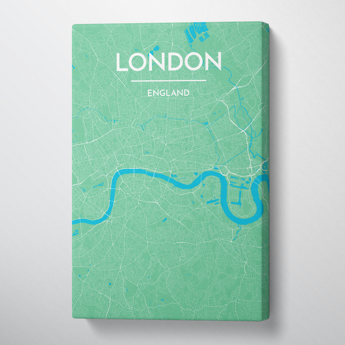 London City Map Canvas Wrap - Point Two Design