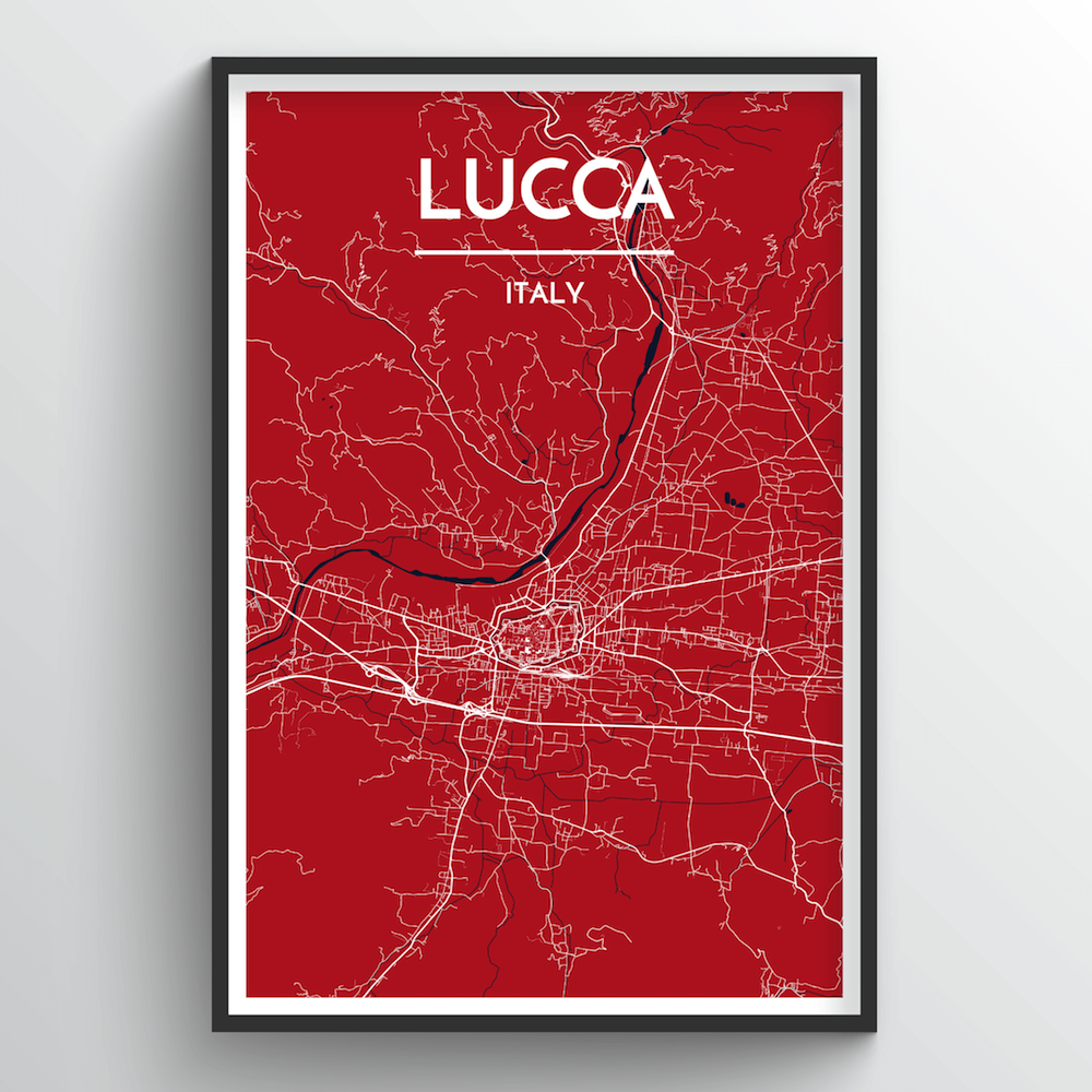 Lucca City Map Art Print - Point Two Design