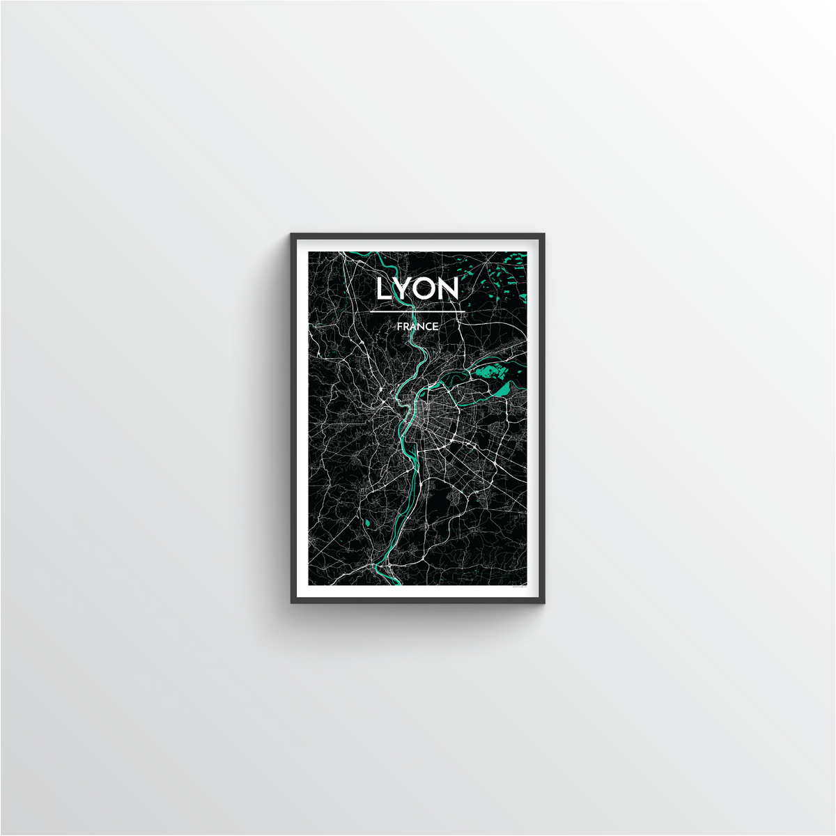 Lyon Map Art Print