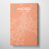 Madrid City Map Canvas Wrap - Point Two Design