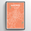 Madrid City Map Art Print - Point Two Design
