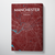 Manchester City Map Canvas Wrap - Point Two Design