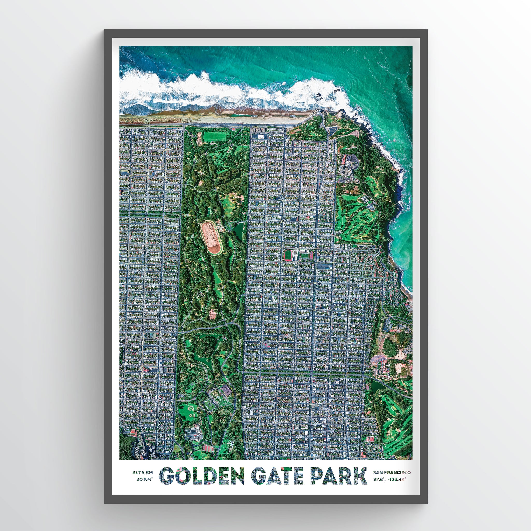 Golden Gate Park Earth Photography - Art Print