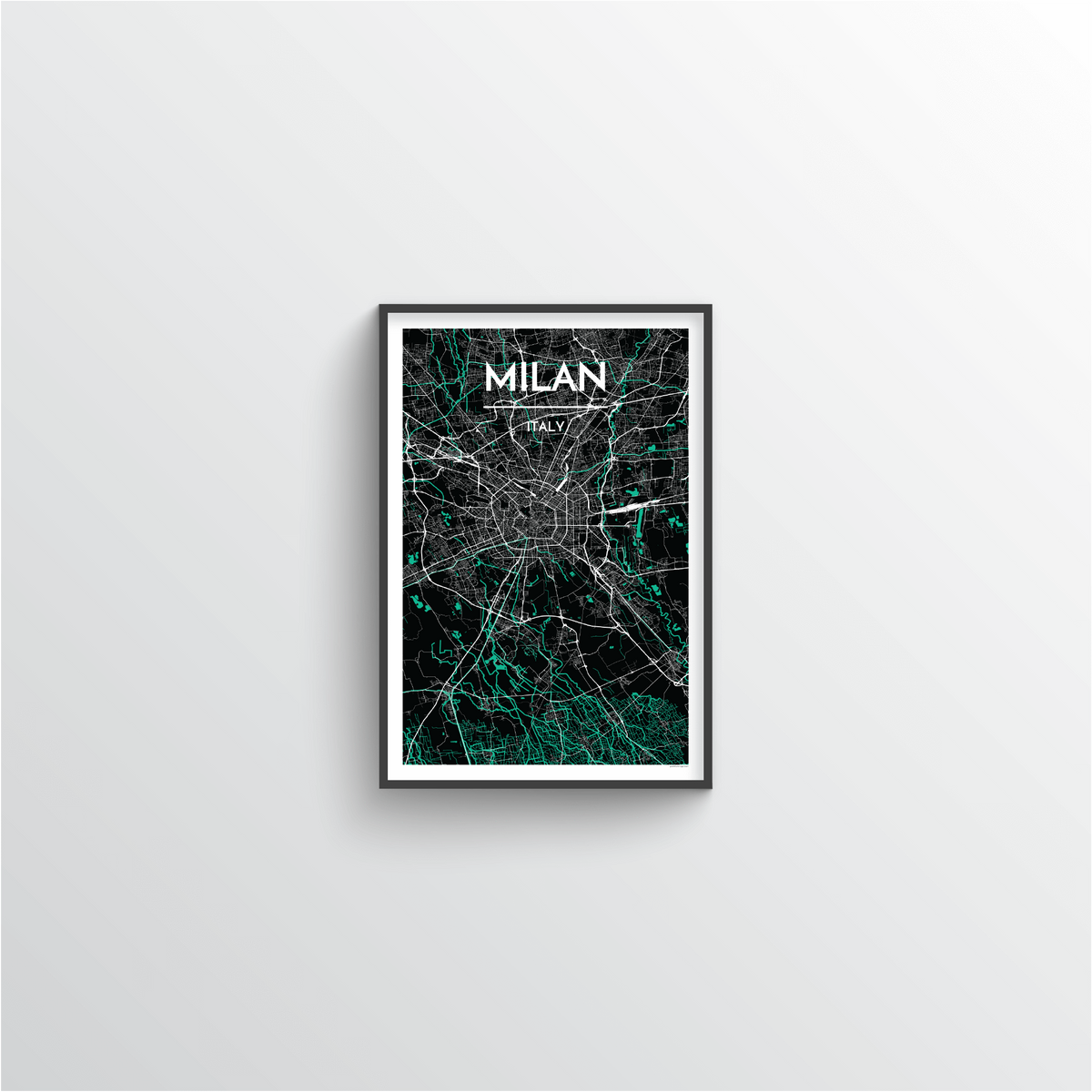 Milan Map Art Print