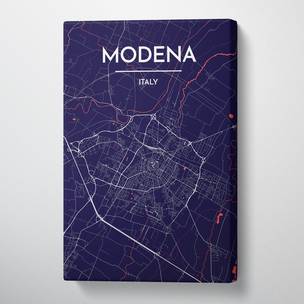Modena City Map Canvas Wrap - Point Two Design